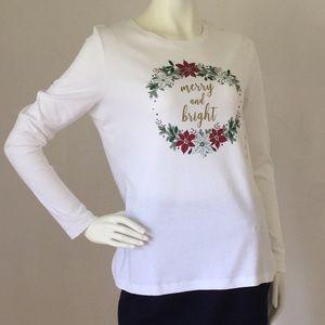 NWT Studio Works Holiday Christmas White Sweater M